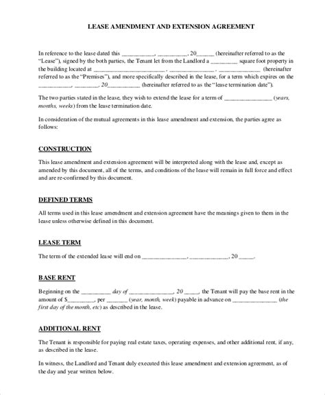 Amendment Letter To Agreement Contract Amendment Template A Free Loan
