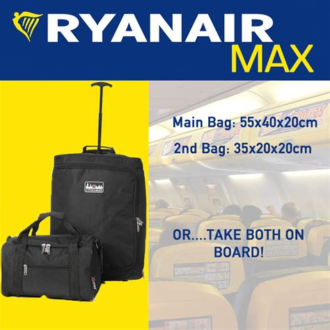cabin baggage measurements ryanair 55x40x20cm 35x20x20cm maximum luggage