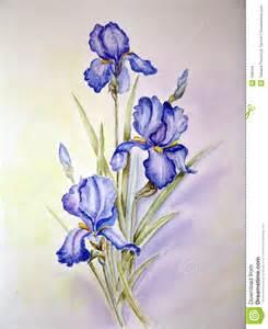 blue irises painting stock images image 166344