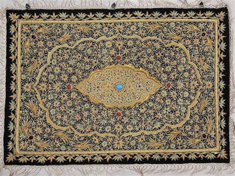 rug wall wall hanging carpet decorative rug w semi precious stonework india ebay