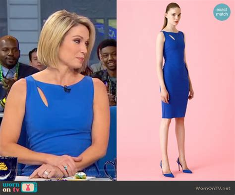 amy robach tweets quot hey sunrise ginger zee do you like amy robach dress she wore today on gma wornontv amy s blue