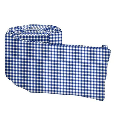 Gingham Crib Bumper by Primary Navy Gingham Woven Crib Bumpers Sheetworld