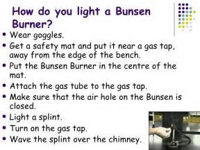 heating with bunsen burner