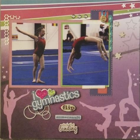gymnastics scrapbook layout 17 best images about scrapbook cheer football on
