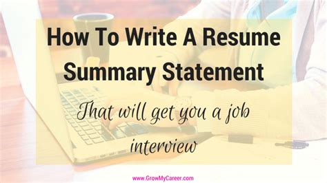 Summary Statement Resume Exles by How To Write A Resume Summary Statement 28 Images