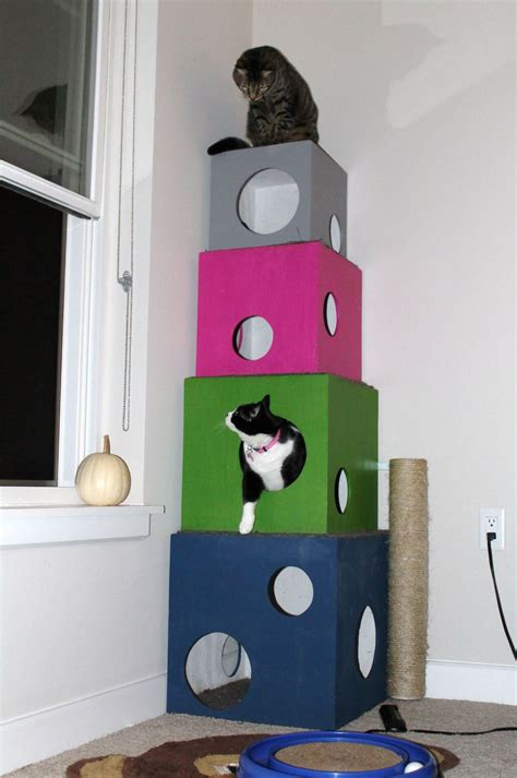 How To Make Tree Bookshelf 6 Diy Cat Trees To Enrich Your Kitty S Life Mnn Mother