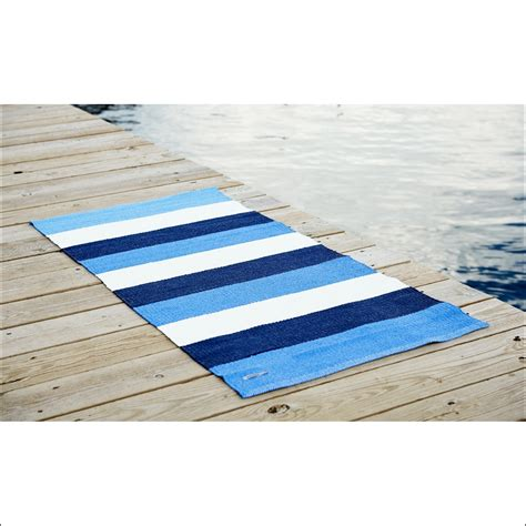 Blue And White Bathroom Rugs Blue And White Striped Bath Rug Bathroom Decoration