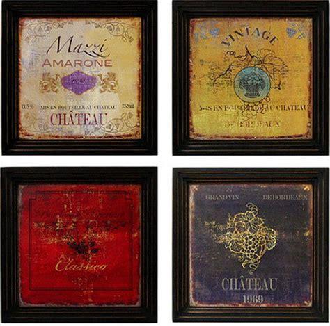 Ballard Design Mirrors vintage wine label print traditional prints and