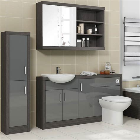 Contemporary Bathroom Furniture Uk Hacienda 1500 Vanity Unit Grey Buy At Bathroom City