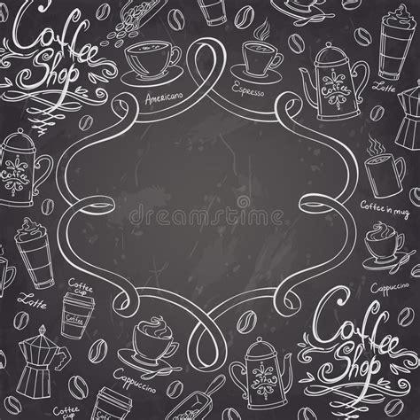 coffee shop background pattern royalty free vector image coffee shop design frame stylized chalkboard coffee
