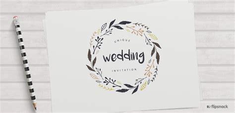 Wedding Invitation Notice by Unique Wedding Invitations With Flipsnack