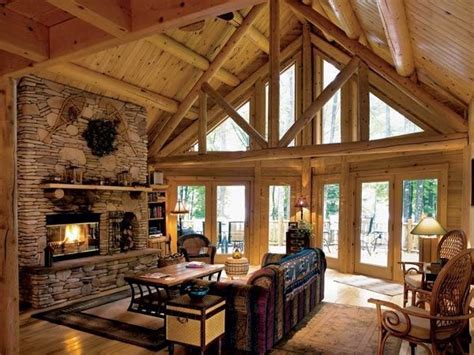 log cabin great room pictures log home great room homes cottages cabins of all sizes pinter