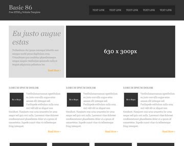 Basic 86 Free Html5 Template Html5 Templates Os Templates Simple Css Templates