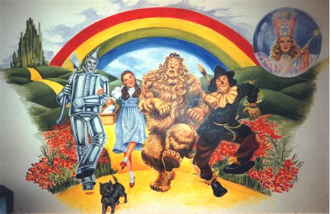 wizard of oz mural murals by marie