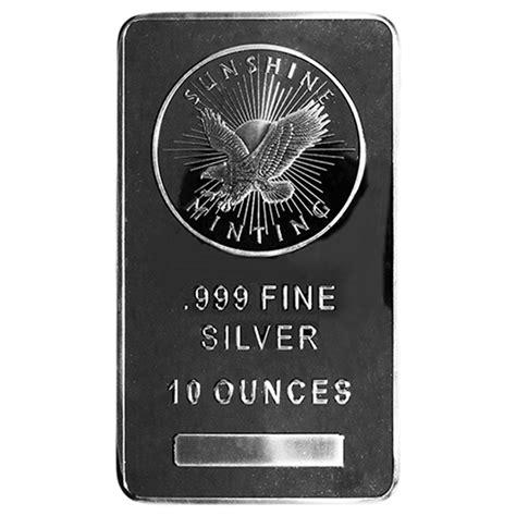 10 Troy Oz Silver Bar - 10 troy oz mint 999 silver bar mint si