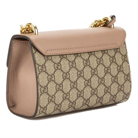 gucci leather gg supreme canvas padlock studded shoulder bag new 3544002 luxedh