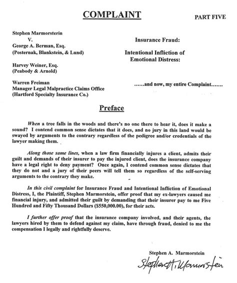Civil Lawyer Cover Letter by Sle Civil Complaint Form Word Employee Complaint Form Sle Invitations Sle