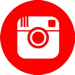 red instagram  icon  red social icons