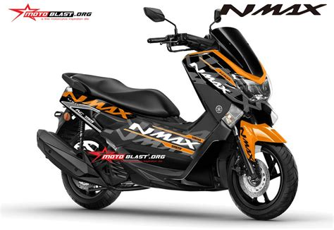 Decal Stiker Yamaha Nmax Black Ktm Rc Orange modifikasi motor matic terbaru yamaha nmax striping