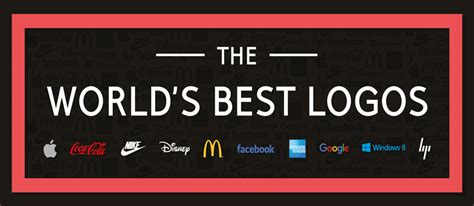 best logos in the world the world s best logos infographic designbeep