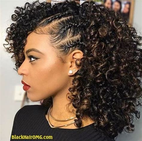 Braided Curly Hairstyle For Black by The Perm Rod Set For Thick Type 4 Hair