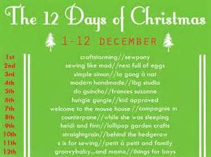 What Calendar Days Are The 12 Days Of Introducing The 12 Days Of S Is For Sewing
