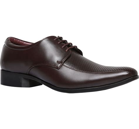 bata s formal shoes buy brown lace up faux leather