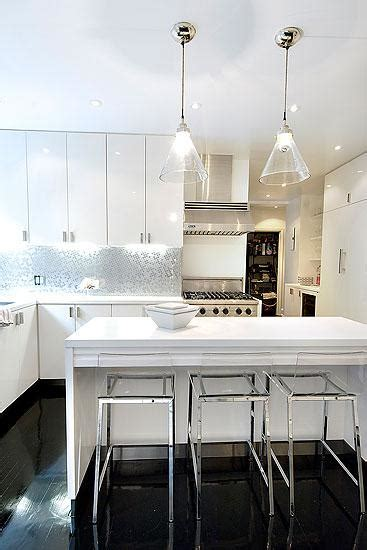 lucite bar stools contemporary kitchen