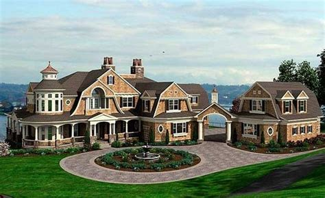 large home plans at eplanscom large house and floor plan designs plan 23413jd spectacular shingle style house plan big