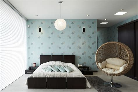 Bedroom Decorating by Tapet In Dormitor O Idee Practica
