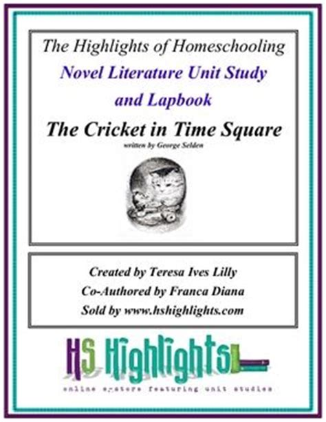 the in times square a novel books unit studies times square and cricket on