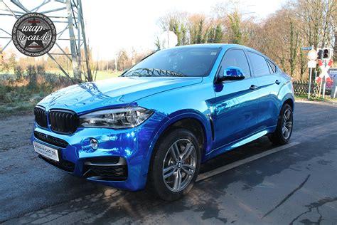 BMW X6 Folierung in chrom blau by wrap a car.de