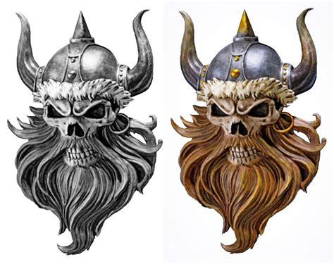 viking skull tattoos viking warrior skull tattoos viking