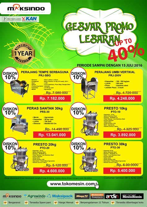 Velvy Promo Lebaran Beli 2 Bonus 1 gebyar promo lebaran up to 40 toko mesin maksindo toko mesin maksindo
