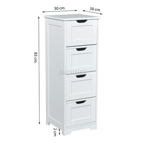 wooden cabinet organizer unit 4 drawers cupboard storage foxhunter white wooden 4 drawer bathroom storage cupboard