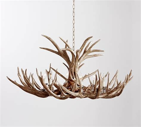 Pottery Barn Antler Chandelier Faux Antler Chandelier Pottery Barn