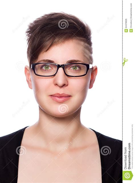 young business woman with modern short hair wearing