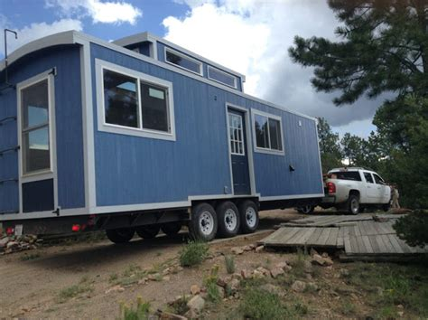 Tiny House Town The Blue Caboose Tiny House 240 Sq Ft Caboose Tiny House