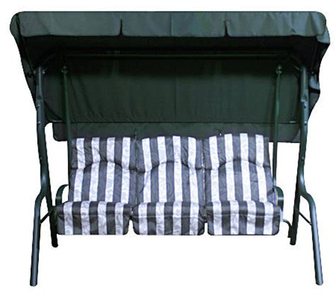 overhead swing deluxe 3 person swing with cushions overhead canopy