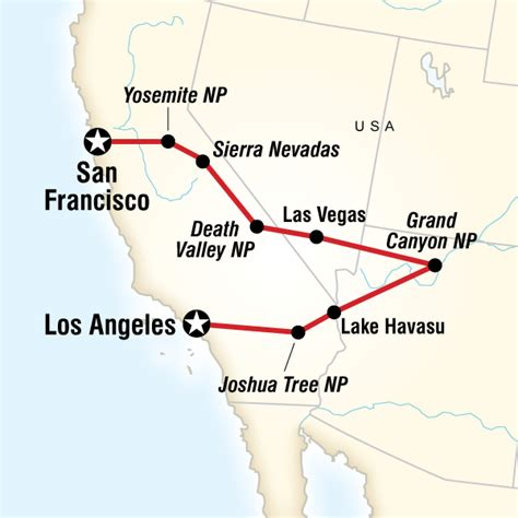 usa map los angeles san francisco san francisco to los angeles express in united states