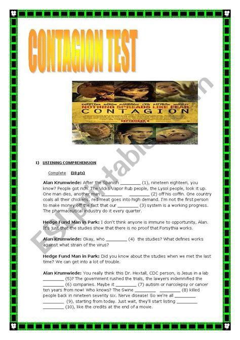Contagion Worksheet Answer Key