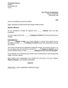 Lettre De Reclamation Free Pour Remboursement Lettre De Demande De Remboursement De Charges Locatives Indues Mod 232 Le De Lettre Gratuit