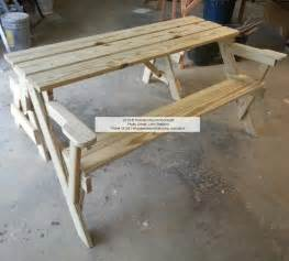 Folding Picnic Table Bench Folding Bench And Picnic Table Combo Free Plans Complete Woodworking Catalogues