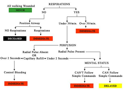 start flowchart the mass casualty incident triage crisis medicine