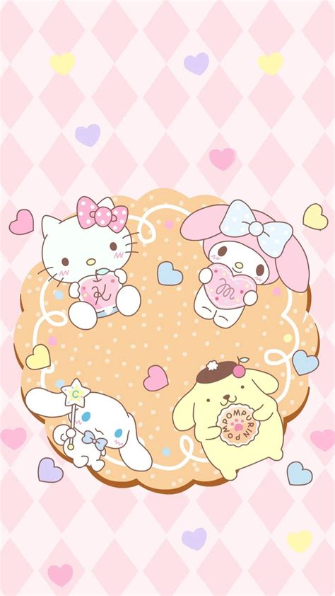 wallpaper ruangan hello kitty my melody wallpaper 183