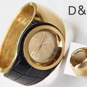 Jam G Ci Bulat Black jam tangan d g gelang bulat