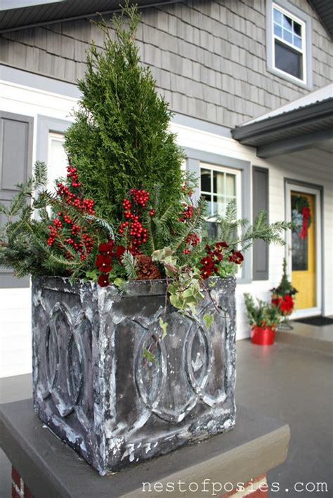 porch container garden diy tips on winter flower containers nest of posies