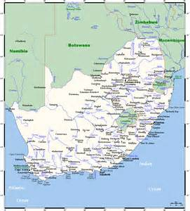 list of populated places in south africa