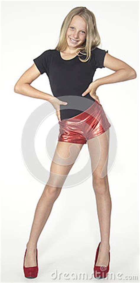 high heel preteen teen modelingfashion in studio stock photography image