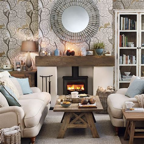 living room theme cosy woodland theme living room decorating housetohome